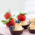 Chocolate Fruit Cheese Cup Recipe by top Houston blogger, Ashley Rose of Sugar and Cloth