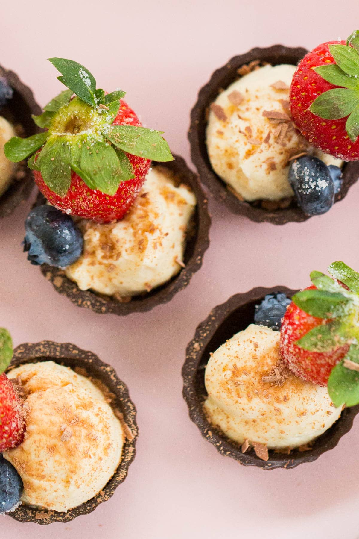 Chocolate Fruit Cheese Cups Recipe by top Houston blogger, Ashley Rose of Sugar and Cloth