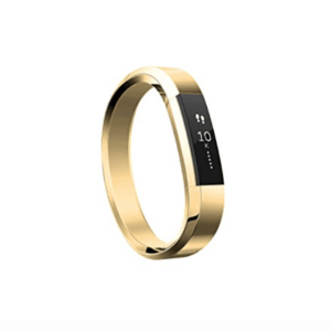 This Gold Fitbit is one of Sugar & Cloth's favorite beauty essentials.