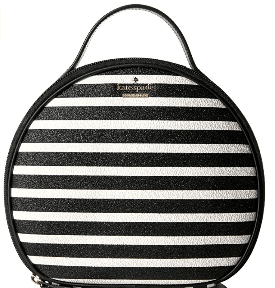 This Kate Spade Stripe Cosmetic Bag is one of Sugar & Cloth's favorite beauty essentials.