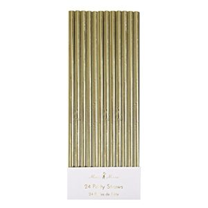 These Gold Paper Straws are one of Sugar & Cloth's favorite holiday finds.