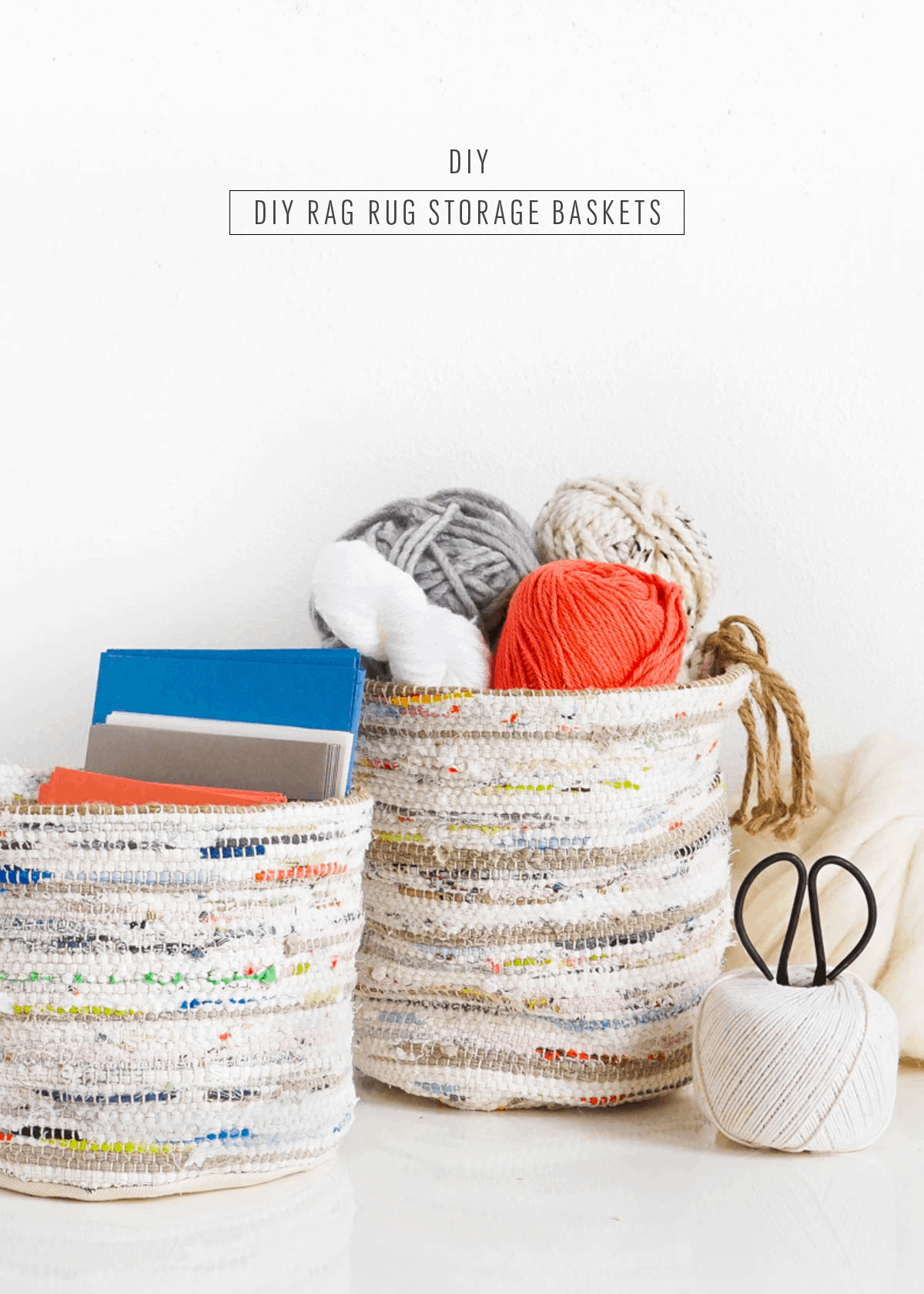 Diy Rag Rug Storage Baskets By Sugar Cloth An Award Winning Home