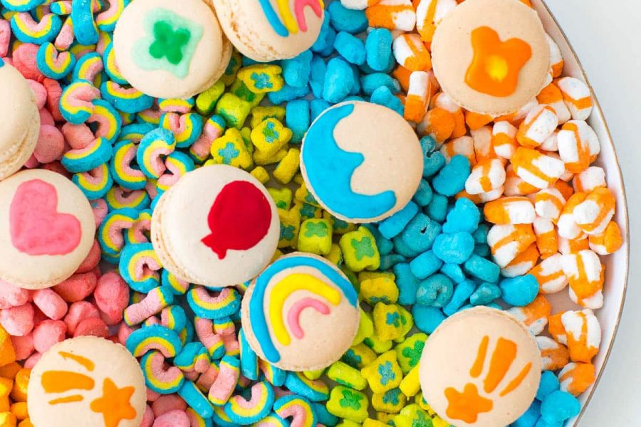 DIY lucky charms macarons by top Houston lifestyle blogger, Ashley Rose of Sugar and Cloth