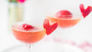 Strawberry and Rose Sorbet Champagne Recipe