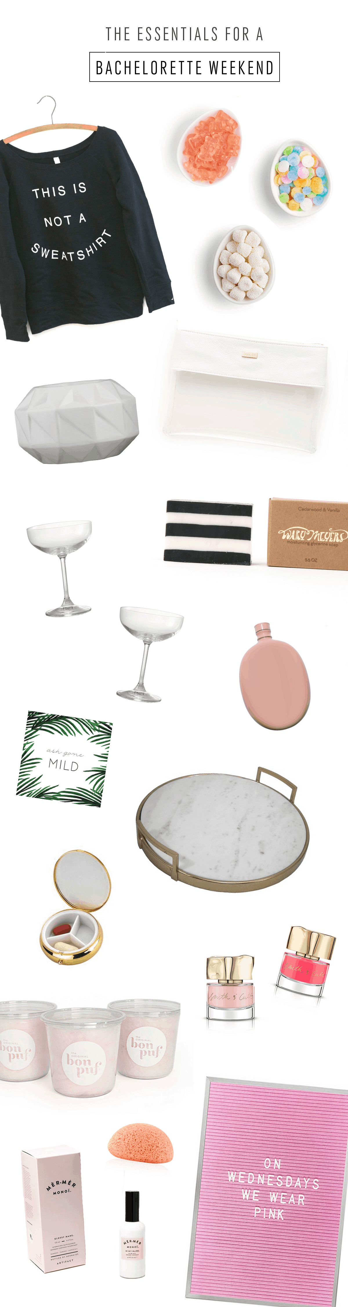 The Essentials for a Perfect Bachelorette Weekend by Ashley Rose of Sugar & Cloth, an award winning DIY blog.