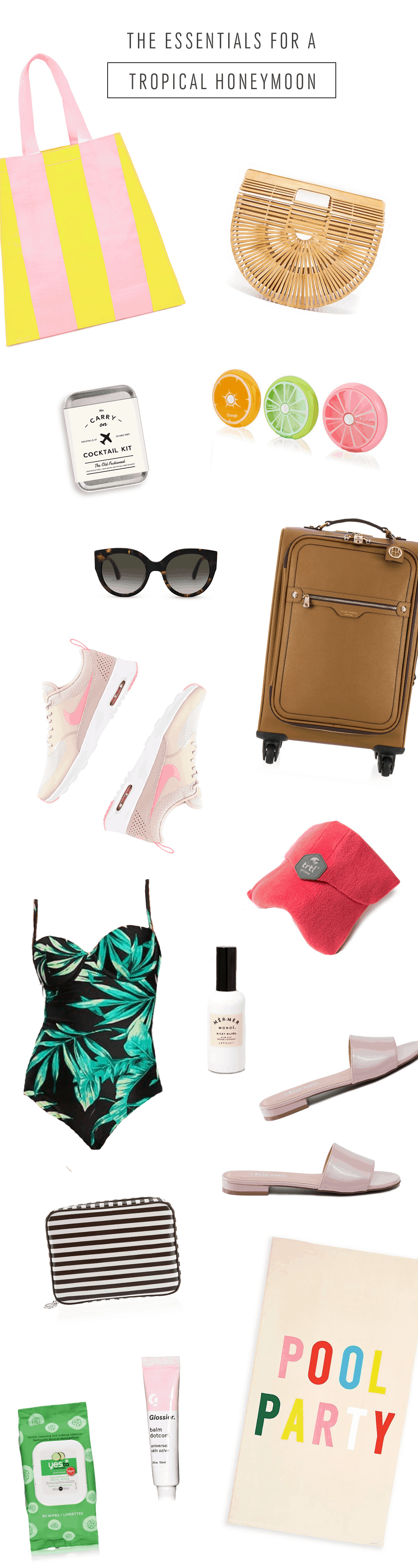 What I'm Packing for Our Honeymoon by Ashley Rose of Sugar & Cloth, an award winning DIY blog.