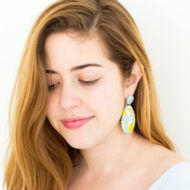 Cool and Quirky Statement Earrings by Ashley Rose of Sugar and Cloth, an award winning DIY blog.