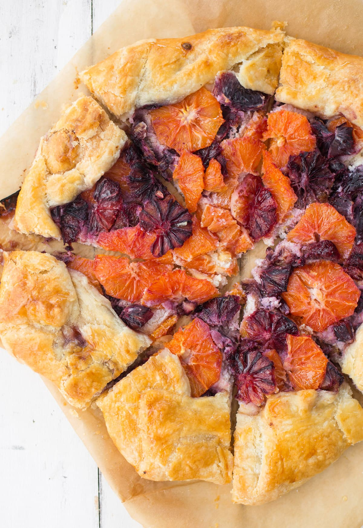 Citrus Galette by Sugar & Cloth, an award winning DIY, recipe, and home decor blog.