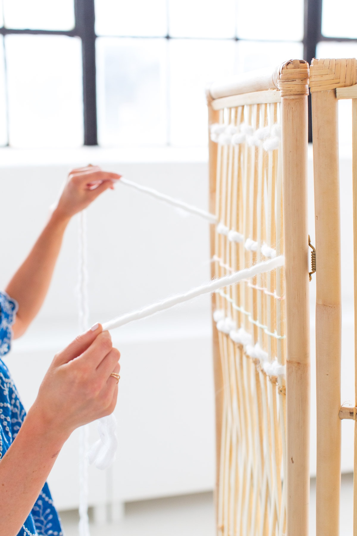 DIY Ikea Hack Woven Room Divider 1 Sugar Cloth