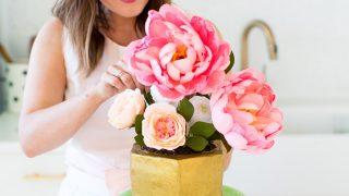 Easter Style & DIY Modern Potted Flower Cake