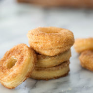 Easy cinnamon sugar donuts by Sugar & Cloth, an award winning DIY and recipes blog.