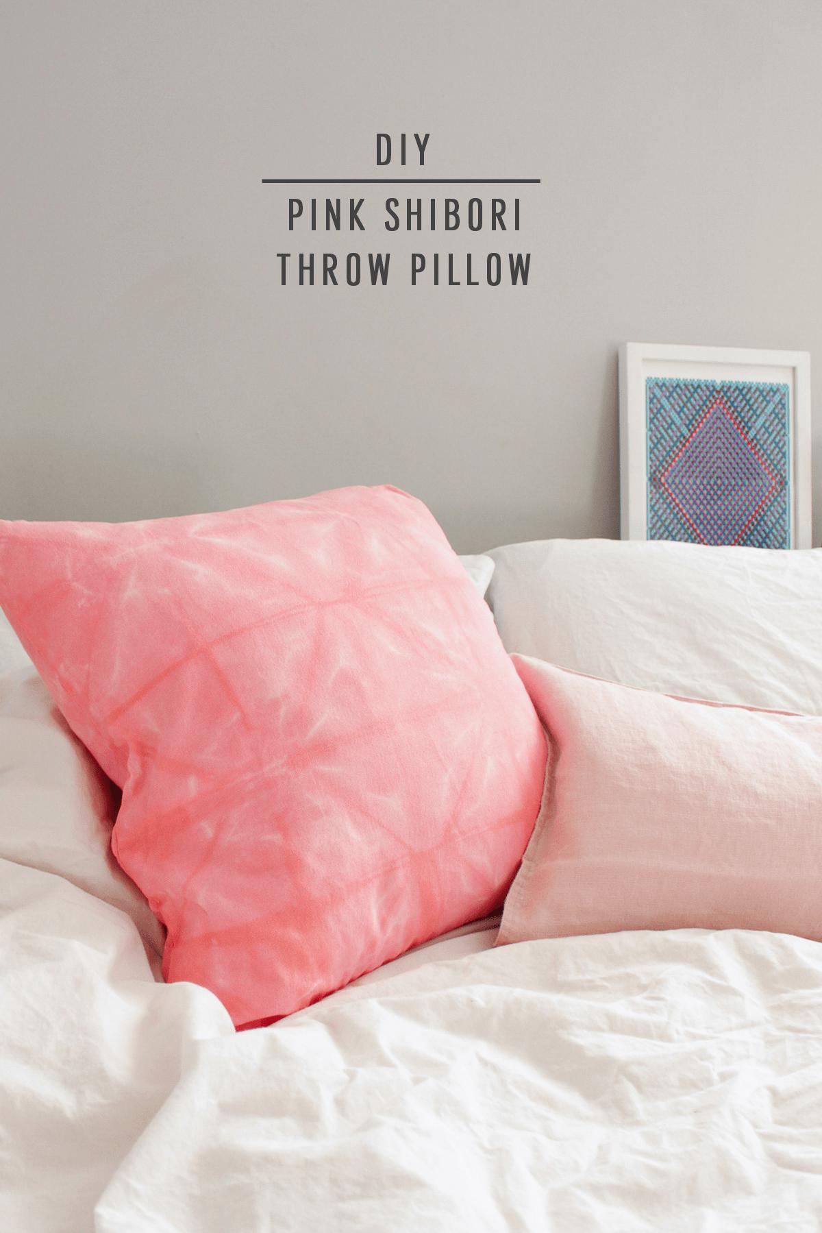 diy pink shibori throw pillow by sugar u0026 cloth an award winning diy and home