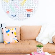 DIY pegboard wall art by top houston lifestyle blogger Ashley Rose of Sugar and Cloth