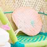 DIY Geometric Embroidered Fans