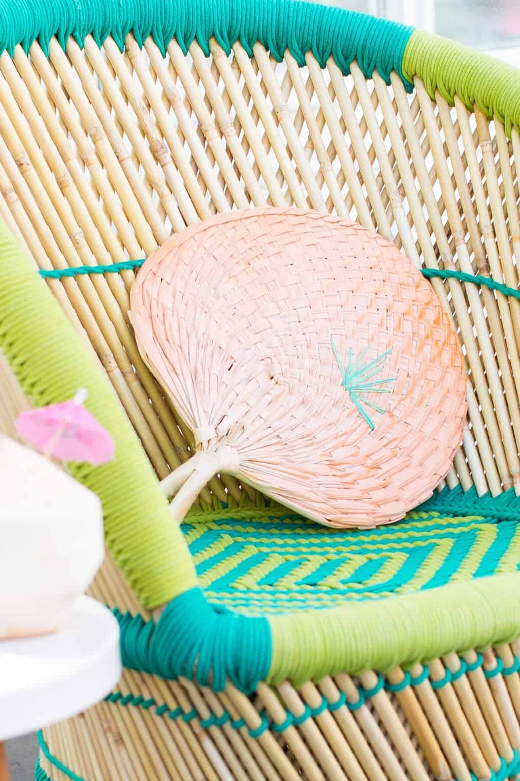 DIY Geometric Embroidered Fans by Ashley Rose of Sugar & Cloth, an award winning DIY blog.