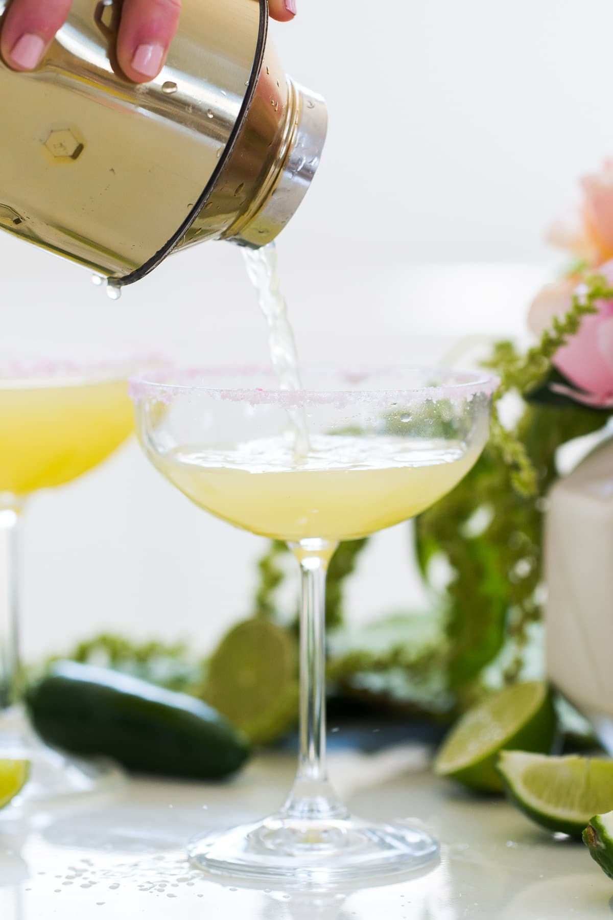 A Skinny Jalapeno Margarita recipe for Cinco de Mayo by top Houston lifestyle blogger Ashley Rose of Sugar & Cloth