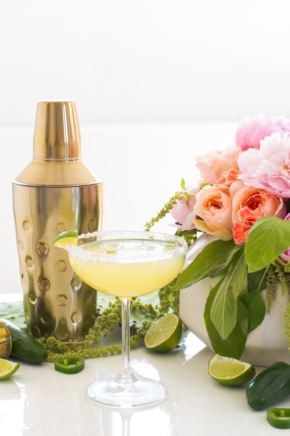 Jalapeño margarita - A Skinny Jalapeno Margarita recipe for Cinco de Mayo by top Houston lifestyle blogger Ashley Rose of Sugar & Cloth