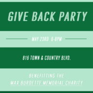 Help us in Supporting My Cousin's Charity by attending our Give Back Party with Kendra Scott in Houston on May 23rd!