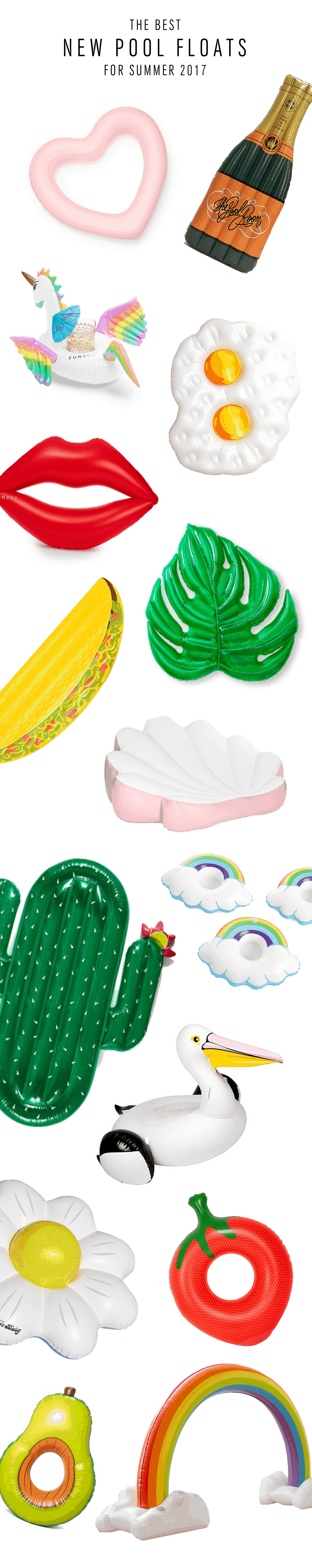 The Best New Pool Floats for Summer 2017 by Sugar & Cloth, an award winning destination for DIY's, home decor, and style.