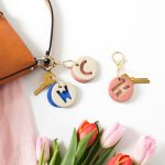 DIY Clay Letter Keychain