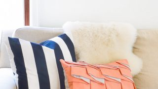 DIY Structured Pleat Lumbar Pillow