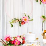 DIY Floral Embroidery Ring Backdrop