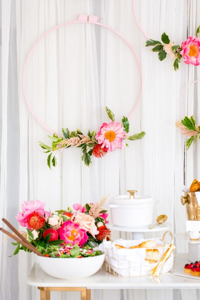 A Southern Inspired Bridal Shower and DIY Backdrop by Ashley Rose of Sugar & Cloth, a lifestyle blog in Houston, TX