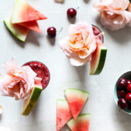 Cherry Watermelon Frosé by Ashley Rose of Sugar & Cloth, a top lifestyle blog in Houston, Texas