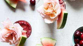 Cherry Watermelon Frosé Recipe