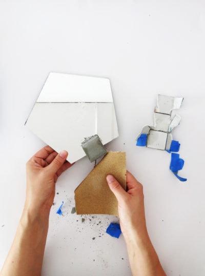 DIY Concrete Vanity Mirror by Ashley Rose of Sugar & Cloth, a top lifestyle blog in Houston, Texas