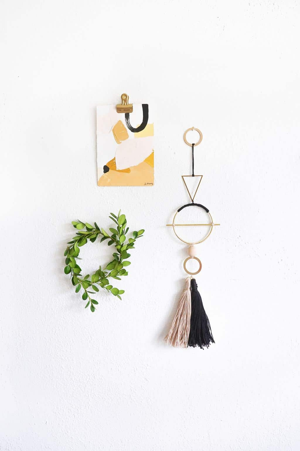 DIY Geometric Metal Wall Hang by Ashley Rose of Sugar & Cloth, a top lifestyle blog in Houston, Texas