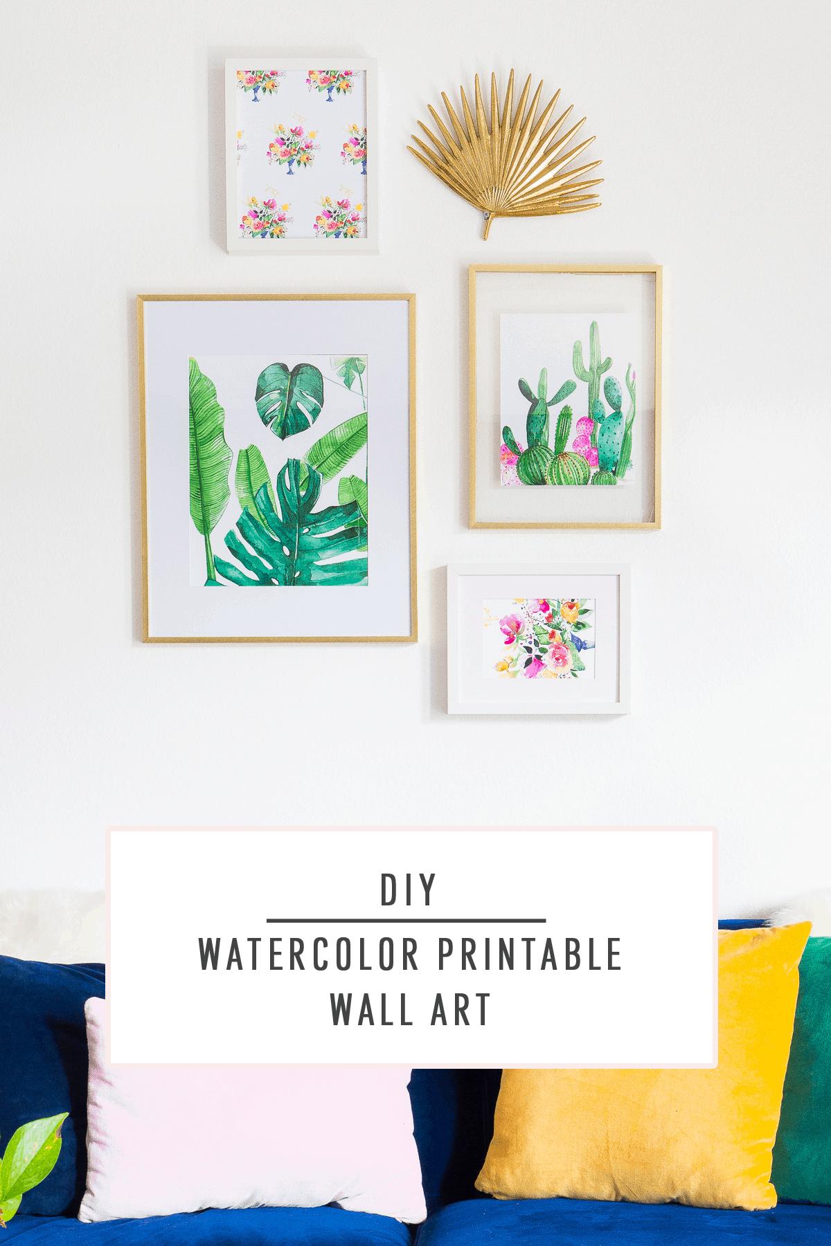 Diy Watercolor Printable Wall Art Sugar Amp Cloth Diy Printables