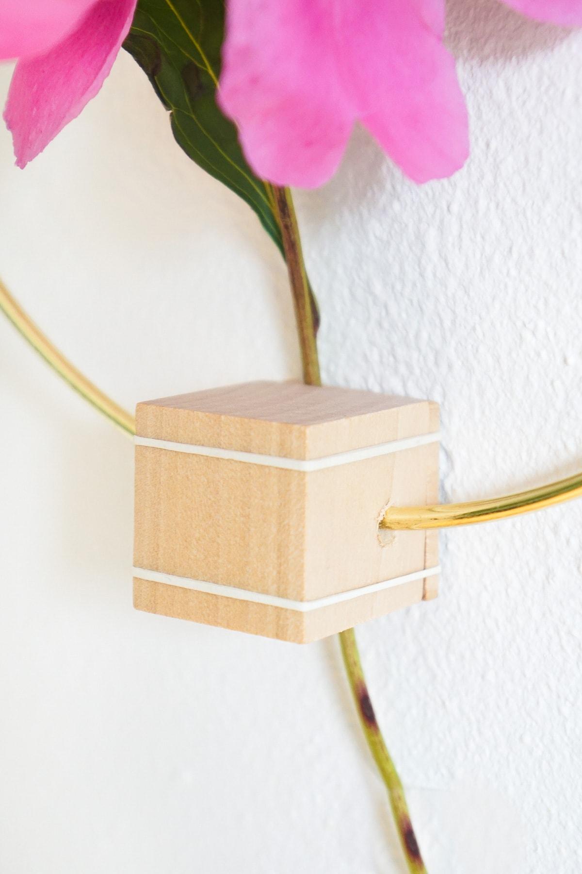 DIY Minimalist Flower Wall Hang by Ashley Rose of Sugar & Cloth, a top lifestyle blog in Houston, Texas