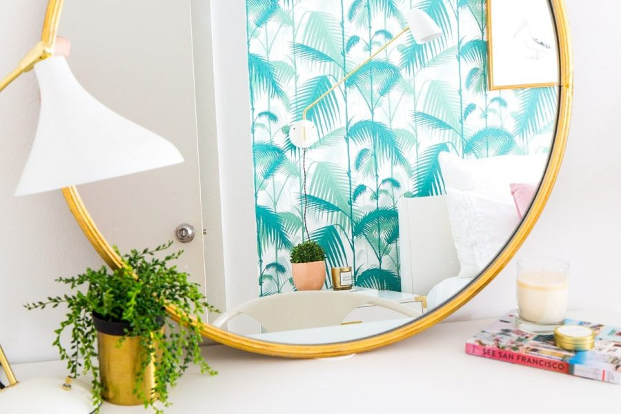 Modern Statement Wall Mirrors by Ashley Rose of Sugar & Cloth, a lifestyle blog in Houston, TX