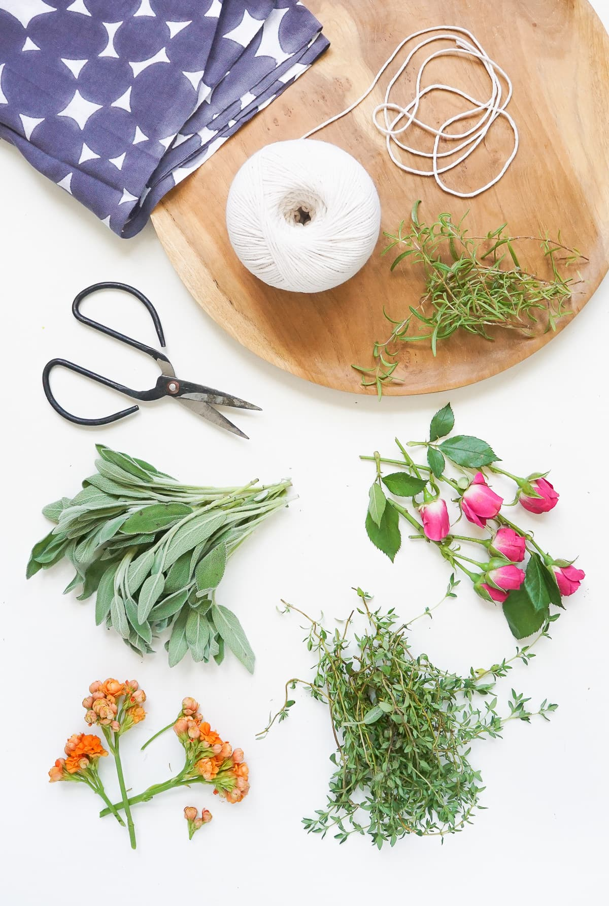 DIY Fresh Floral and Herbal Incense Bundles by Ashley Rose of Sugar & Cloth, a top lifestyle blog in Houston, Texas