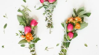 DIY Fresh Floral and Herbal Incense Bundles