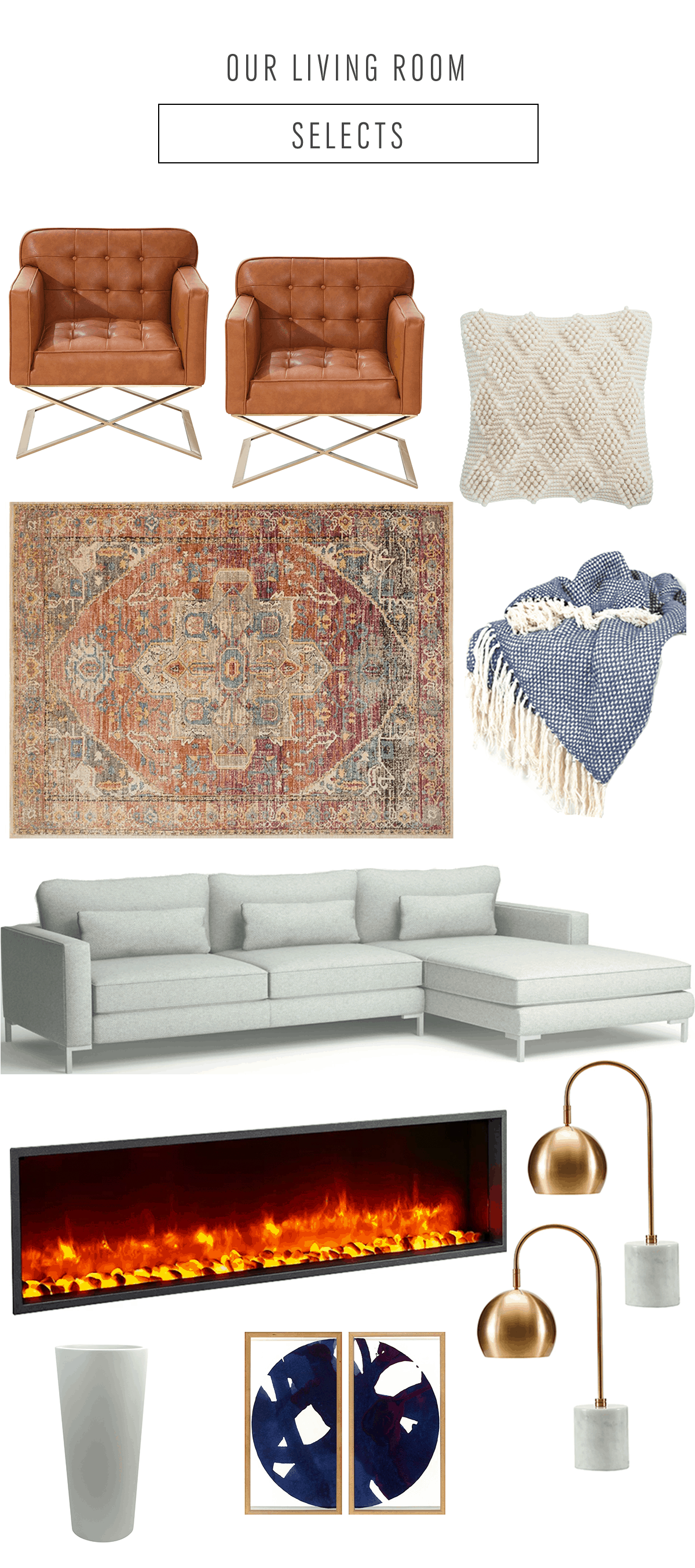 #SUGARANDCLOTHCASA: Our Living Room Design Plan by top Houston lifestyle blogger Ashley Rose of Sugar and Cloth