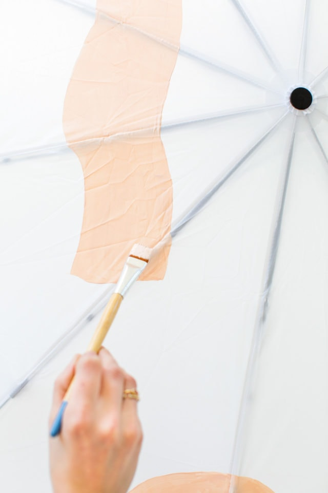 DIY Abstract Umbrella by top Houston lifestyle blogger, Ashley Rose of Sugar and Cloth