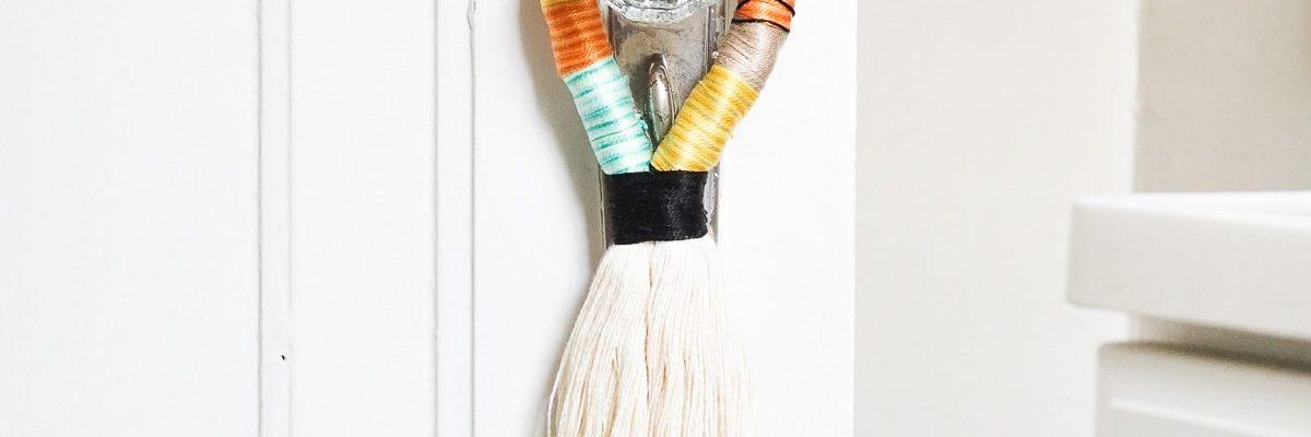 DIY Decorative Door Handle Tassels by Ashley Rose of Sugar & Cloth, a top lifestyle blog in Houston, Texas
