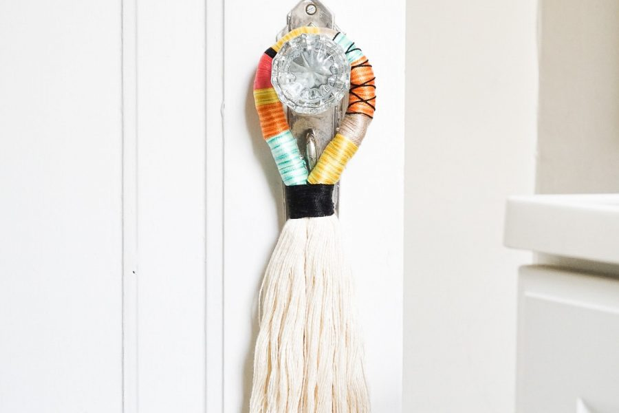 DIY Decorative Door Handle Tassels by Ashley Rose of Sugar & Cloth, a top lifestyle blog in Houston, Texas