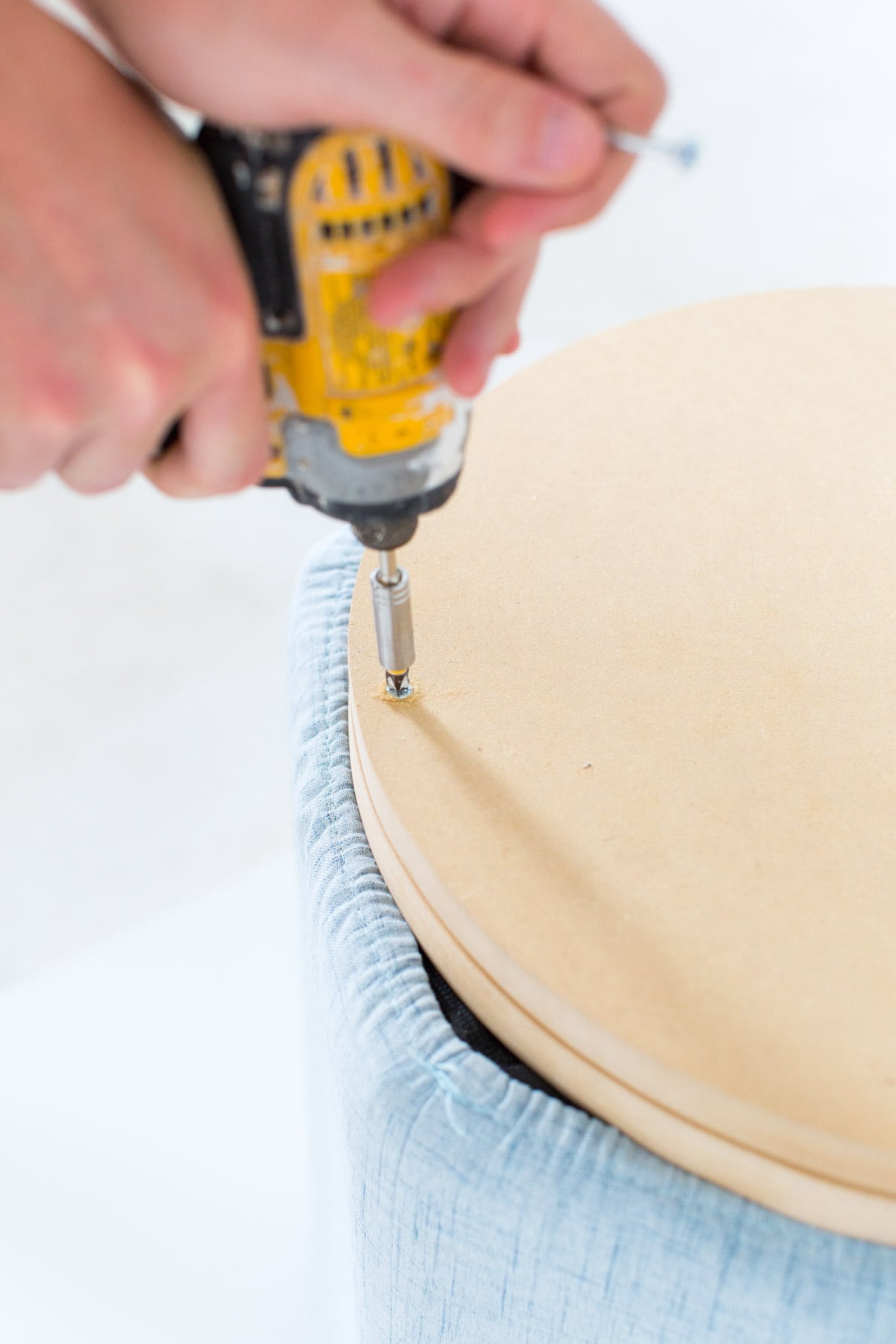 DIY Metallic Gold Stool Bases by top Houston lifestyle blogger Ashley Rose of Sugar and Cloth