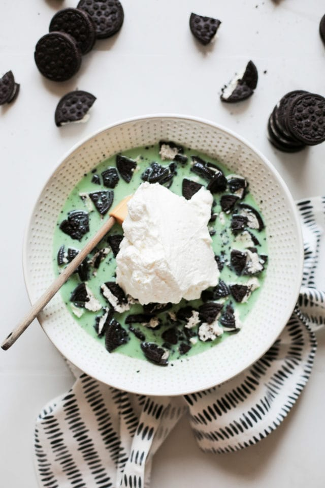 Grasshopper Pie Ice Cream by Ashley Rose of Sugar & Cloth, a top lifestyle blog in Houston, Texas
