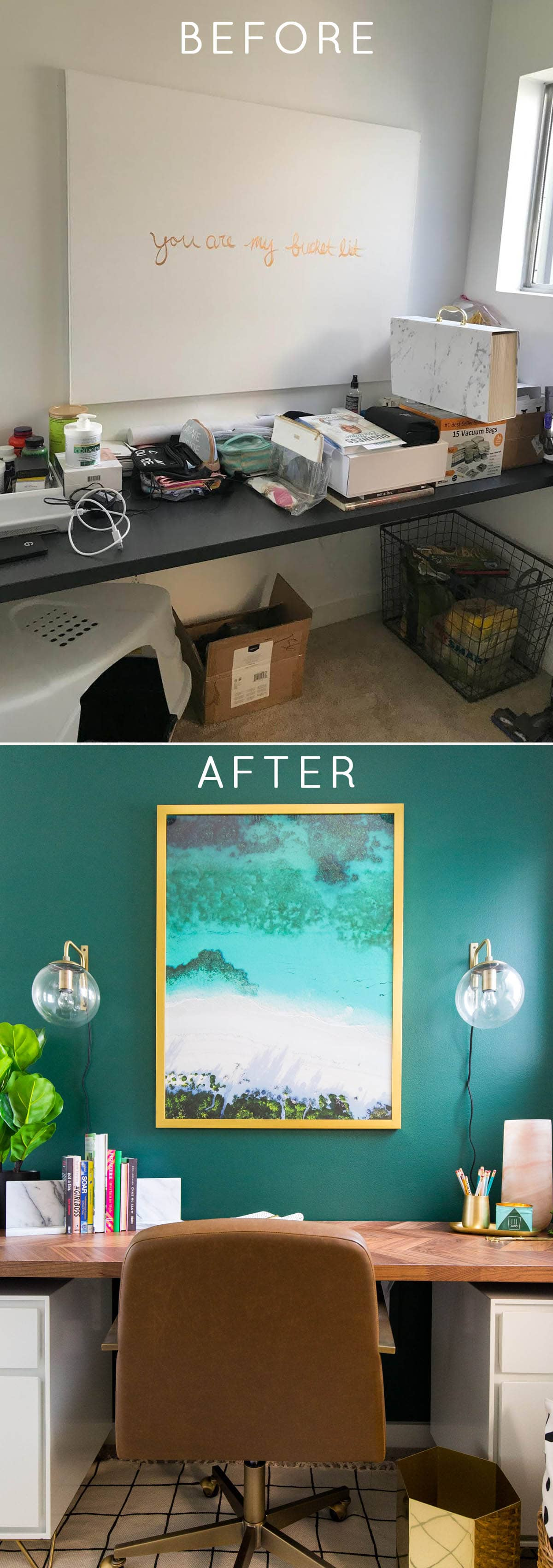 #SUGARANDCLOTHCASA: Before + After of our Study Room Makeover by top Houston lifestyle blogger Ashley Rose of Sugar and Cloth