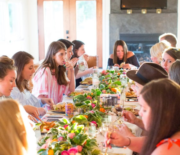 Round Top Blogger Retreat: A Farmhouse Dinner Tablescape by top Houston lifestyle blogger Ashley Rose of sugar and cloth