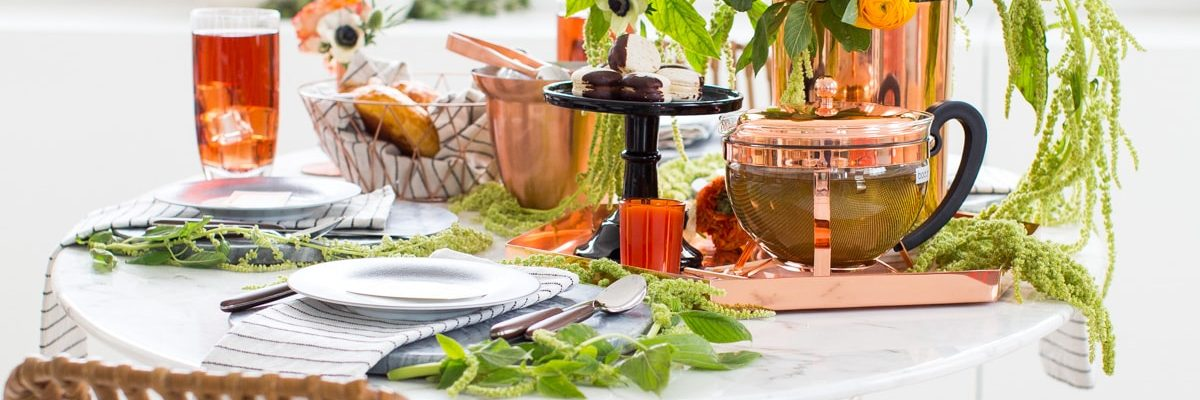 A Sophisticated Halloween Dinner Table Setting