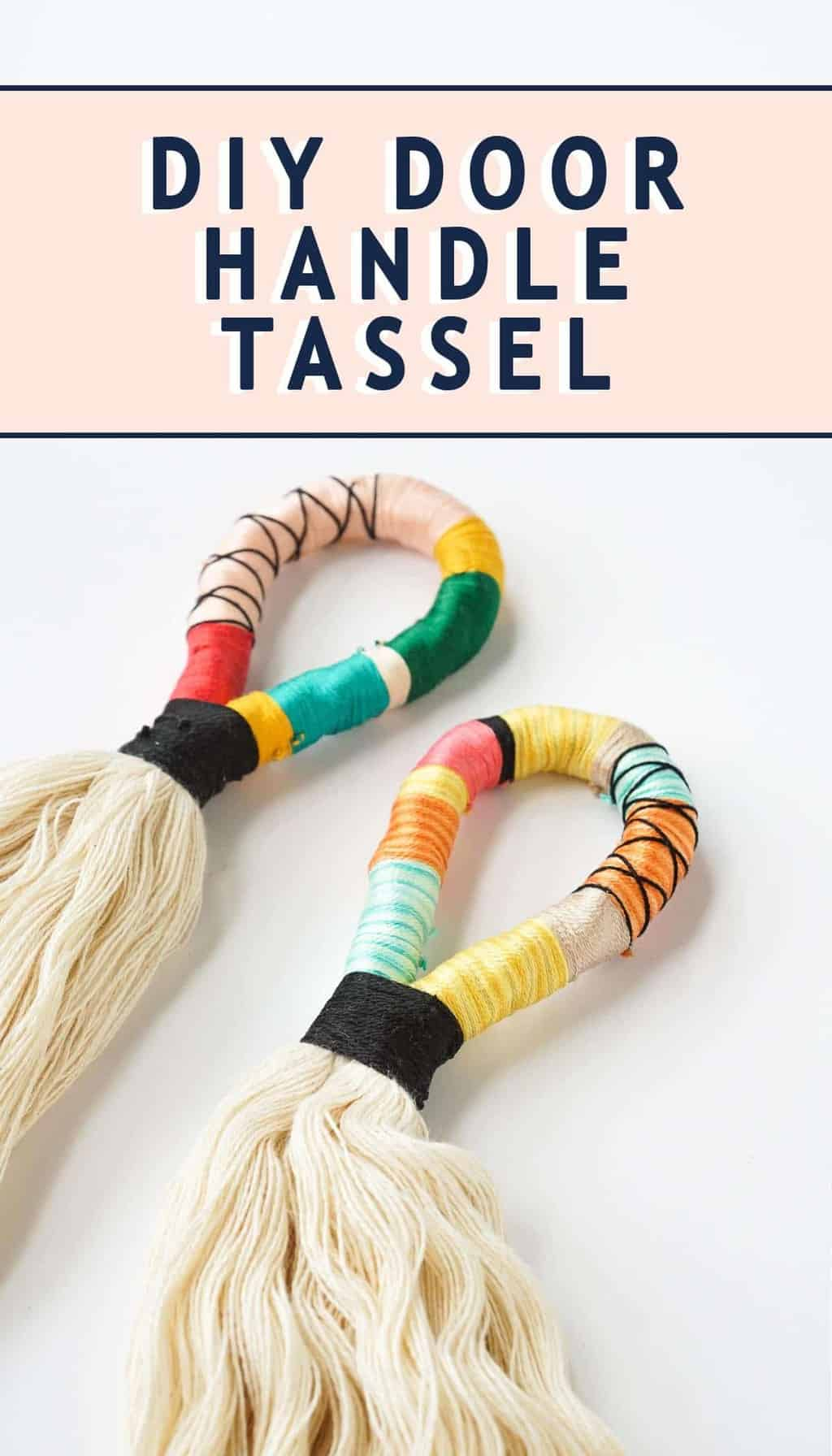 photo of the DIY door handle tassels by top Houston lifestyle blogger Ashley Rose of Sugar & Cloth