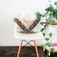DIY Woven Yarn Fringe Throw Pillow by Ashley Rose of Sugar & Cloth, a top lifestyle blog in Houston, Texas