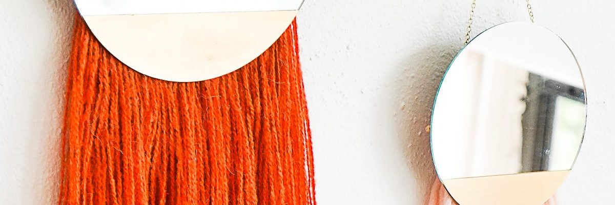 DIY Fringed Mirror Wall Hanging by Ashley Rose of Sugar & Cloth, a top lifestyle blog in Houston, Texas