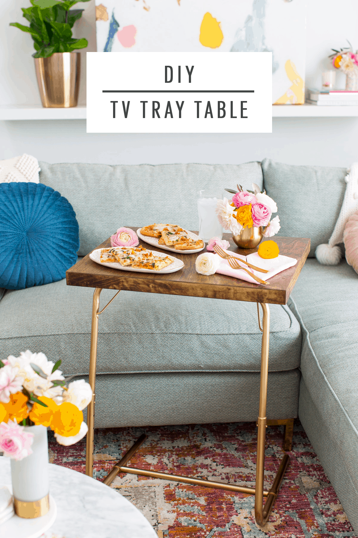 Date Night In: DIY TV Tray Table & Folded Heart Napkins ...