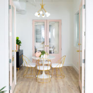 #SUGARANDCLOTHSTUDIO: Before + After of Our New Studio Meeting Room by top Houston Lifestyle blogger Ashley Rose of Sugar and Cloth